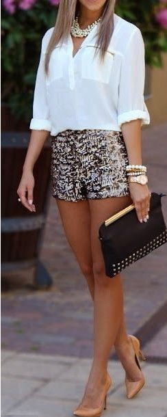 Shorts Party Outfit