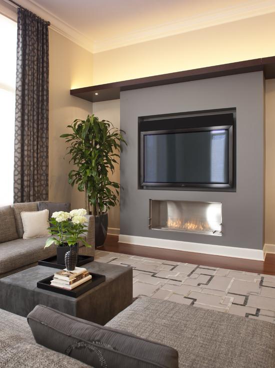 Stunning Flat Screen On Wall Design Ideas Photos - Decoration Design ...